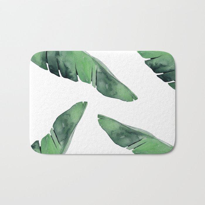 Banana Leaves Green Bath Mat