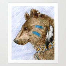 Medicine Bear Art Print