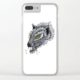 Trad Wolf Clear iPhone Case