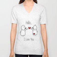 Hello I Love You Unisex V-Neck