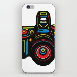 Black Camera iPhone Skin