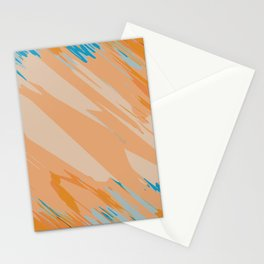 orange brown and blue painting abstract background Stationery Cards