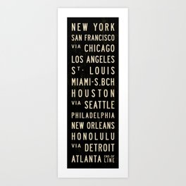 United States Bus Scroll Art Print