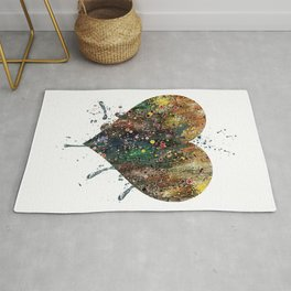 Heart Art Colorful Watercolor Art Love Art Valentine's Day Gift Wedding Gift Engagement Gift Rug