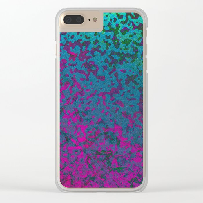 Colorful Corroded Background G296 Clear iPhone Case