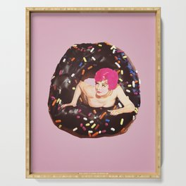 Donut Girl Serving Tray