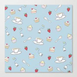 Afternoon Tea - Pretty Pattern Canvas Print