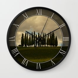 Postcards from Toskany Wall Clock