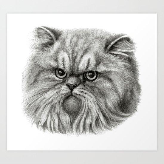 Persian Cat SK072 Art Print