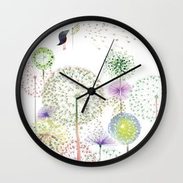 DANDELION FUN Wall Clock