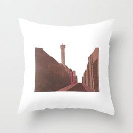 London BT Tower Print Throw Pillow