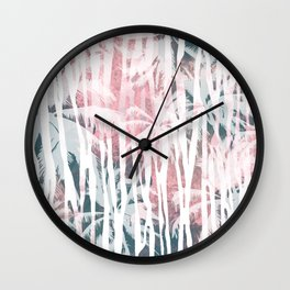 Abstract animal and palm Wall Clock