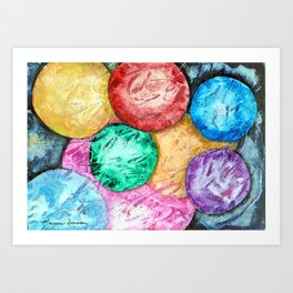 Molecules Collide by Maureen Donovan Art Print