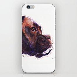 Dogface Boxer iPhone Skin