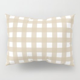 Farmhouse Gingham in Burlap Pillow Sham