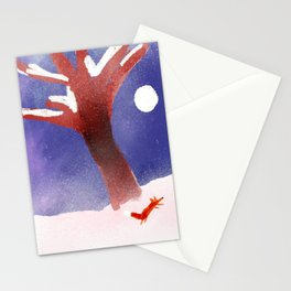 Fox In The Snow Stationery Cards