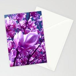 purple magnolia IV Stationery Cards