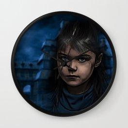 blu horror Wall Clock