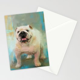White English Bulldog Stationery Cards