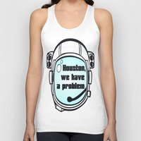 houston Tank Tops featuring Houston Problem by TheLaptopSkinVault