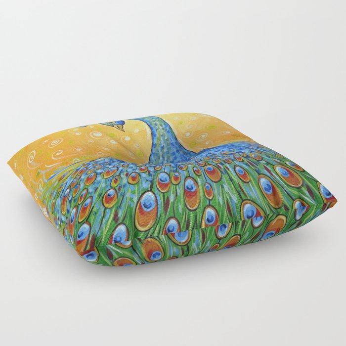 Peacock ... Showing Off Floor Pillow