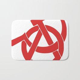 Anarcho-Communist Red Bath Mat