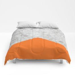 Concrete Arrow - Orange #118 Comforters