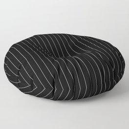 Black White Pinstripes Minimalist Floor Pillow