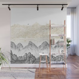 Cinnamon Mountain Clouds 1 Wall Mural