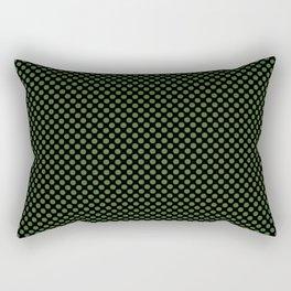 Black and Treetop Polka Dots Rectangular Pillow