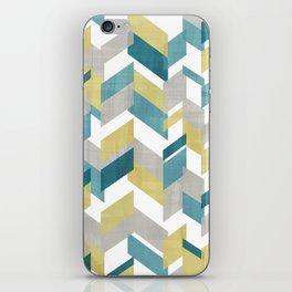 Bright geometrical pattern iPhone Skin