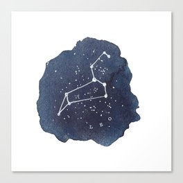 leo constellation zodiac Canvas Print