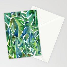 Split Leaf Philodendron – Green Stationery Cards