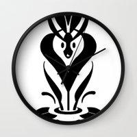 mythology Wall Clocks featuring Sweet Mythology Graphic Design by Denis Marsili DDTK