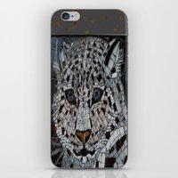 snow leopard iPhone & iPod Skins featuring Snow Leopard by ira gora