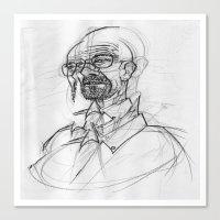 heisenberg Canvas Prints featuring heisenberg by robotrake