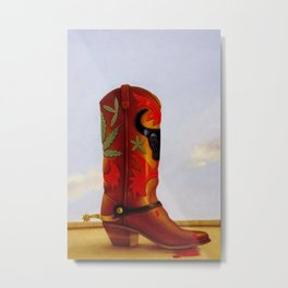 COWBOY BOOT Metal Print