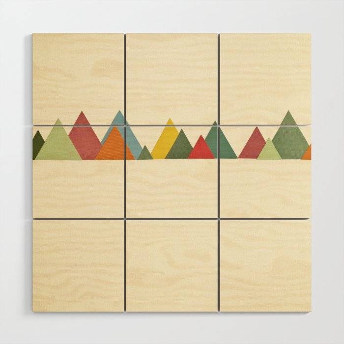 Mountain Range Wood Wall Art By Cassiabeck