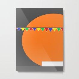 orange is the color of love  Metal Print
