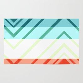Diamond shadows and stripes Rug