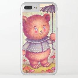 Mr. Bear Clear iPhone Case