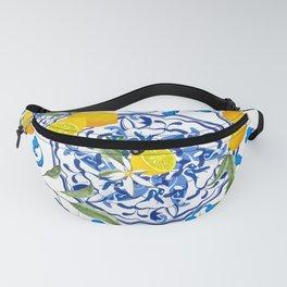 Sicilian style,citrus,olives,summer pattern  Fanny Pack