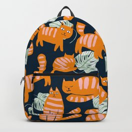 Whimsicat #illustration #animalprint #pattern Backpack