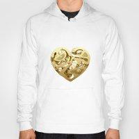 clockwork Hoodies featuring Clockwork Heart by Roman Maisei