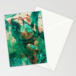 Smaragd shower - nude in bathroom Stationery Cards