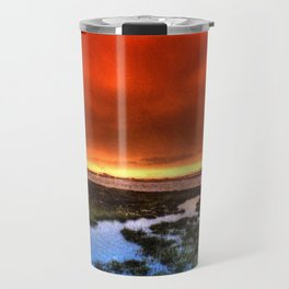 Sunset * Bolsa Chica Wetlands * Huntington Beach, California Travel Mug