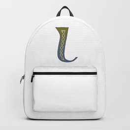 Celtic Knotwork Alphabet - Letter L Backpack