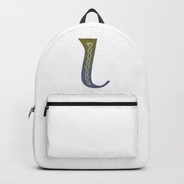 Celtic Knotwork Alphabet - Letter L Backpack