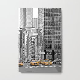 NYC Yellow Cabs NYPD - USA Metal Print