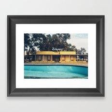 My empty summer Framed Art Print